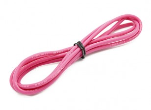 Turnigy haute qualité 16AWG silicone fil 1m (Rose)