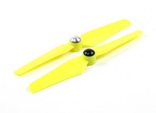 5 x 3.2 Self serrage Hélice pour Multi-Rotor CW et CCW Rotation (1 paire) Jaune