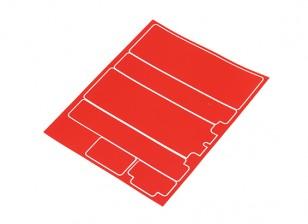 Panneaux décoratifs TrackStar Cache Batterie pour Standard 2S Hardcase Metallic Red (1 Pc)