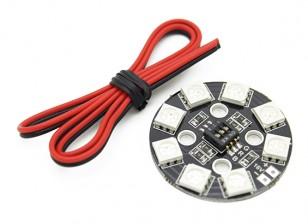 Cercle LED RGB X8 / Système d'éclairage 16V
