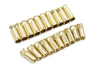 Connecteurs Bullet 6mm Supra X Or (10 paires)