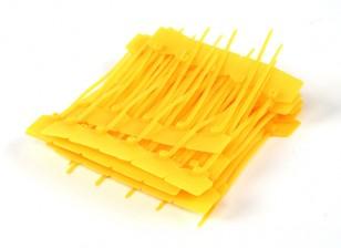 Cable Ties 120mm x 3mm jaune avec marqueur Tag (100pcs)