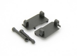 Servo Saver Mont, Servo Saver Tie Rod (2pcs) - Basher Rocksta 1/24 4WS Mini Rock Crawler