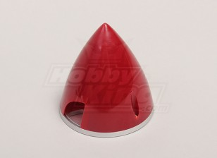 Nylon Spinner avec alliage Backplate 70mm Rouge