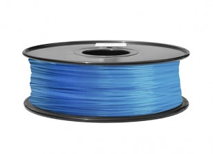 HobbyKing 3D Filament imprimante 1.75mm ABS 1KG Spool (Glow in the Dark - Bleu)