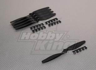 GWS style slowfly Hélice 7x4 Noir (CCW) (5pcs)