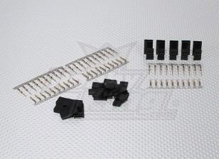 JST-SH Servo Plug-Set (Futaba) plaqué or (10pairs / set)