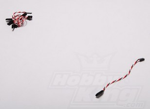 Twisted 15cm Servo Extention Lead (Futaba) 22AWG (5pcs / set)