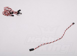 Twisted 30CM Servo Extention Lead (Futaba) 22AWG (5pcs / set)