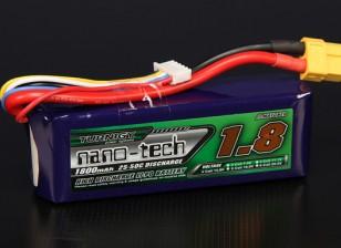 Turnigy nano-tech 1800mah 4S 25 ~ 50C Lipo Paquet