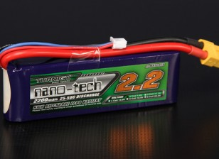 Turnigy nano-tech 2200mah 2S 25 ~ 50C Lipo Paquet
