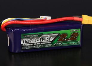 Turnigy nano-tech 2200mah 4S 45 ~ 90C Lipo Paquet