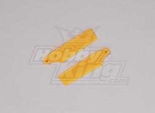 450 Taille Heli en plastique jaune Tail Blade (paire)