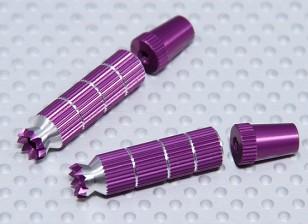 Alliage Anti-Slip Contrôle TX Bâtons Long (Futaba TX Violet)