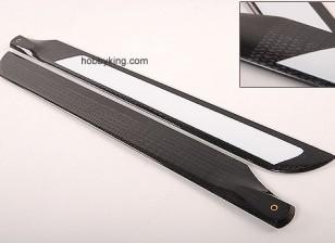 500mm TIG en fibre de carbone Z-Weave principal Lames