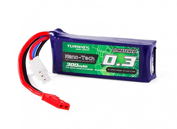 Turnigy Nano-Tech 300mAh 2S 70C Lipo Pack (HR Technology)