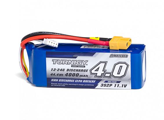 Turnigy High Capacity 4000mAh 3S2P 12C Multi-Rotor Lipo Pack w/XT60