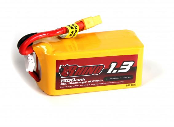 Rhino 1300mAh 4S 50C Lipo Pack w/XT60