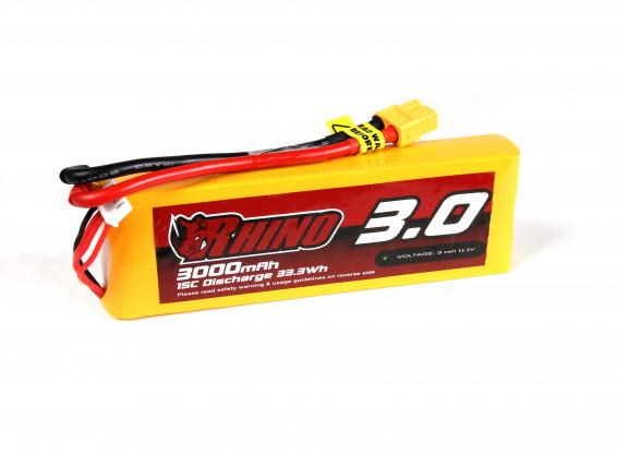 Rhino 3000mAh 3S 15C Lipo Pack w/XT60