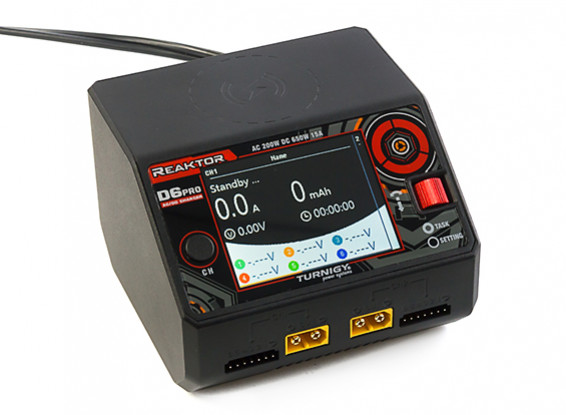 Turnigy Reaktor D6 Pro Duo AC/DC 6S Balance Charger/Discharger w/Smartphone Wireless Charging DC325W x 2 (UK Plug) 2