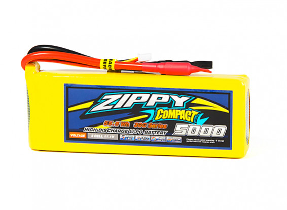 ZIPPY Compact 5000mAh 3S1P 30C Lipo Pack