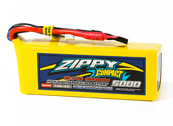 ZIPPY Compact 5000mAh 5S1P 40C Lipo Pack