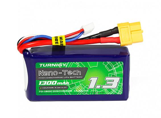 Turnigy Nano-Tech Plus 1300mAh 3S 70C Lipo Pack w/XT60