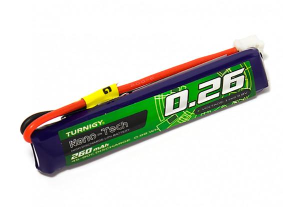 Turnigy Nano-Tech 260mAh 1S 45C Lipo Pack w/JST-PH