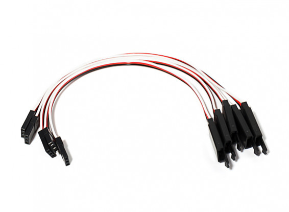 150mm Servo Lead Extension (JR) with Hook 26AWG (5pcs/bag)