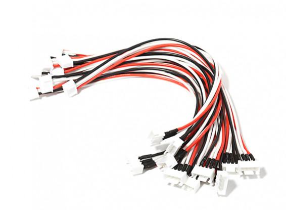 JST-XH 3S Wire Extension 200mm (10pcs/bag)