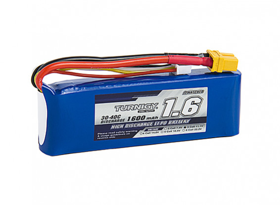 Turnigy 1600mAh 3S 30C Lipo-Pack