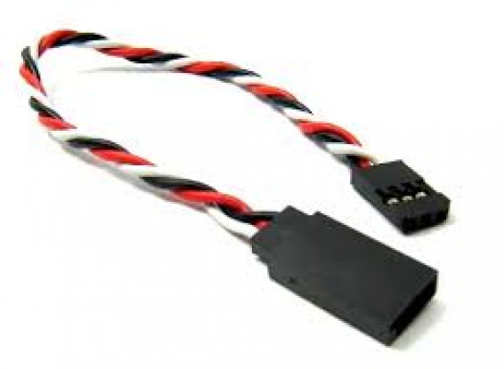 Verdrehte 15cm Servokabel Extention (Futaba) 22 AWG (5pcs / set)