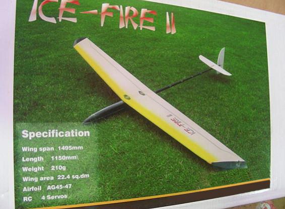 SCRATCH / DENT IceFire-II ARF DLG CF Comp Glider 1495mm (AUS Warehouse)