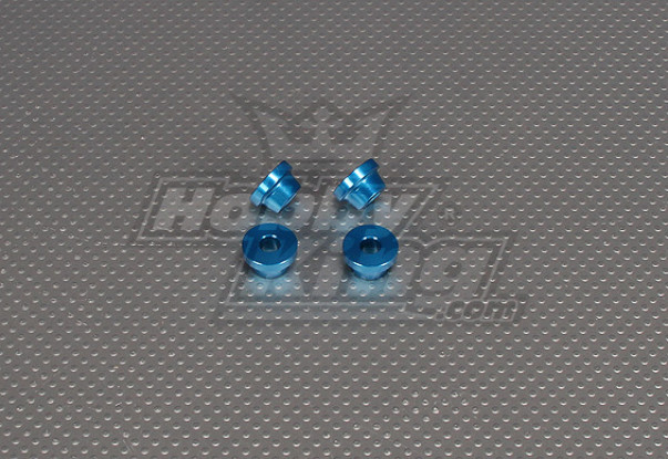 CNC-Inch Standoff 10mm (M6,1 / 4 20) Blau