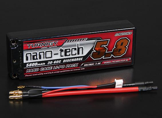 Turnigy Nano-Tech-5800mAh 2S2P 30 ~ 60C Hardcase Lipo-Pack (ROAR approved)