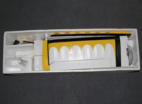 SCRATCH / DENT Pitts 12 EPO 1600mm w / Brushless Motor & Servos (ARF) (Gelb / Schwarz)