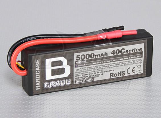 B-Grade 5000mAh 2S 40C Hardcase Lipo Akku