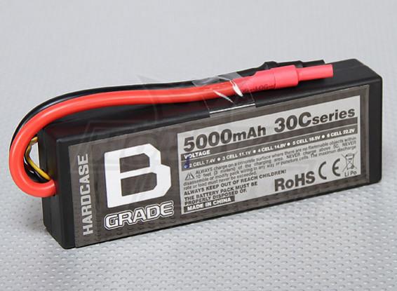 B-Grade 5000mAh 2S 30C Hardcase Lipo Akku