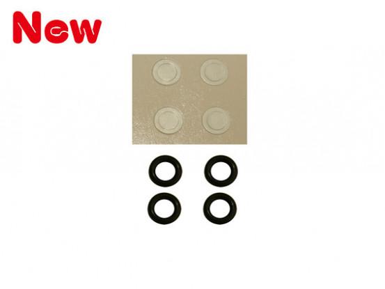 Gaui 100 & 200 Größe O-Ring-Härte-90 und Papierscheibe für 3mm Hauptrotorwelle (203848)