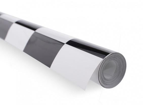 Bedecken Film Große Muster Grill-Arbeit Schwarz / Weiß (5mtr)