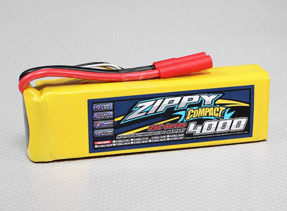 ZIPPY Compact 4000mAh 4S 25C Lipo-Pack