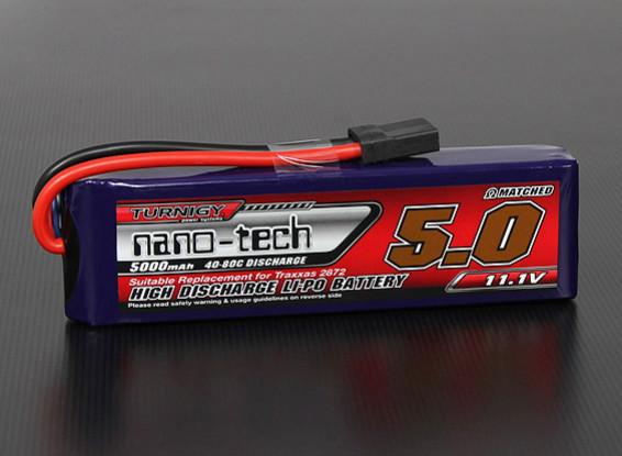 Turnigy Nano-Tech-5000mAh 3S 40 ~ 80C Lipo-Pack (Slash / Slash 4x4)