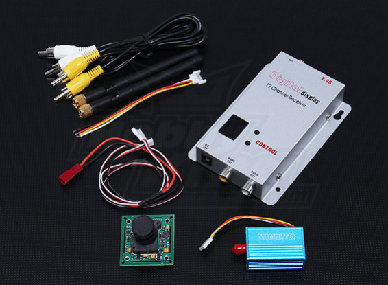 2,4 GHz 100mW Tx / Rx & 1/3-Zoll-CCD-Kamera NTSC (520TV Linie)