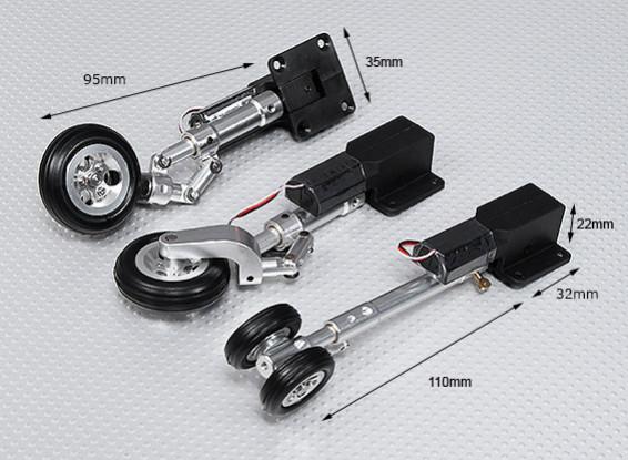 Servoless Einziehfahrwerk V2 (Tricycle) mit Oleo Leg u Alufelgen