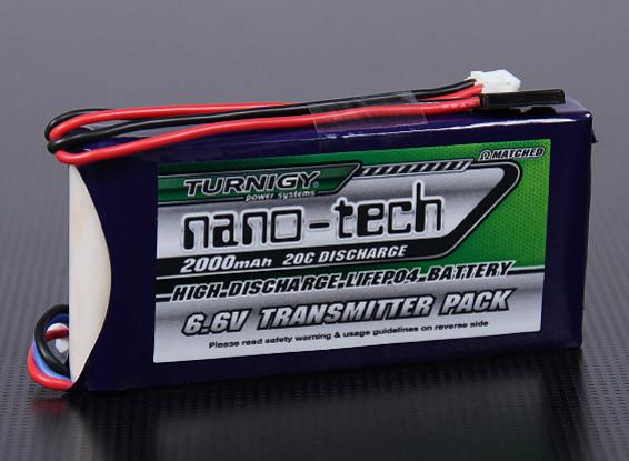 Turnigy Nano-Tech-2000mAh 2S1P 20 ~ 40C LiFePO4 Transmitter-Pack