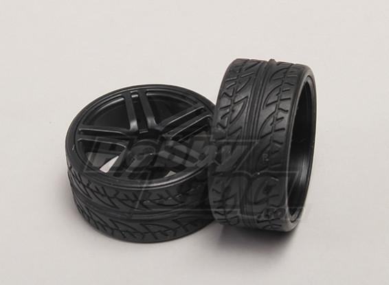 Räder / Reifen (2ST / bag) - 1/18 4WD RTR On-Road Drift Car