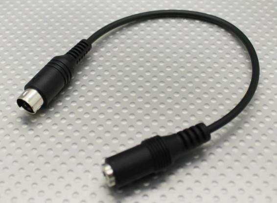 Esky / Sturm / WFLY Transmitter Adapter Stecker 3.5mm Mini DIN4 für Flight Simulator