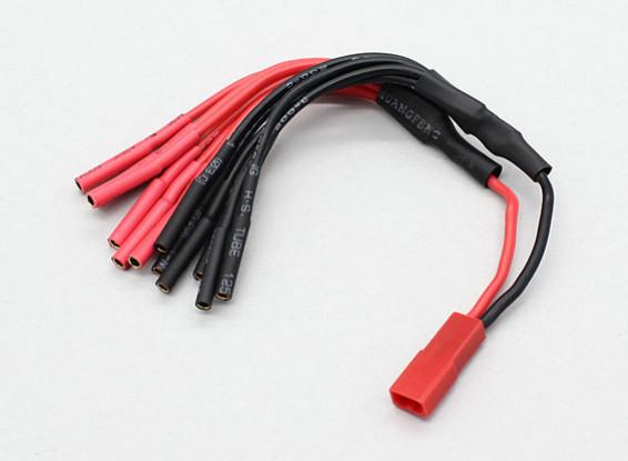 JST bis 6 x 2mm Einschussmultistar ESC Stromverteilerkabel