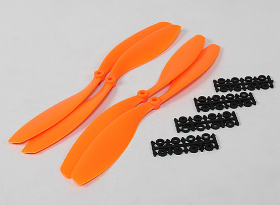 12x4.5 SF Props 2pc Standard-Rotation / 2 pc RH Rotation (orange)