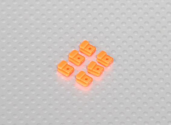 Servoeinfassung Tabs für Hubschrauber Frame (6pcs / bag) - Orange